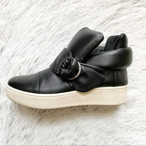 Vince Camuto Leather Sneakers with D-ring